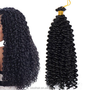 14inch Crochet Braid Hair Water Wave Synthetic cheap ombre hair extension Ombre Braiding Hair for Women 15strands/pack