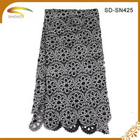 Wholesale China Merchandise Saree Lace With Lace Fabric Dubai For Wedding Drrss Garment