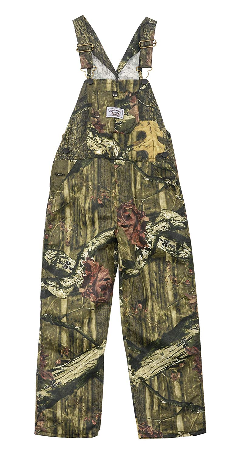 a802a7cf127d9 Get Quotations · Round House Big Boys Mossy Oak Camo Bib Overalls Made in  USA