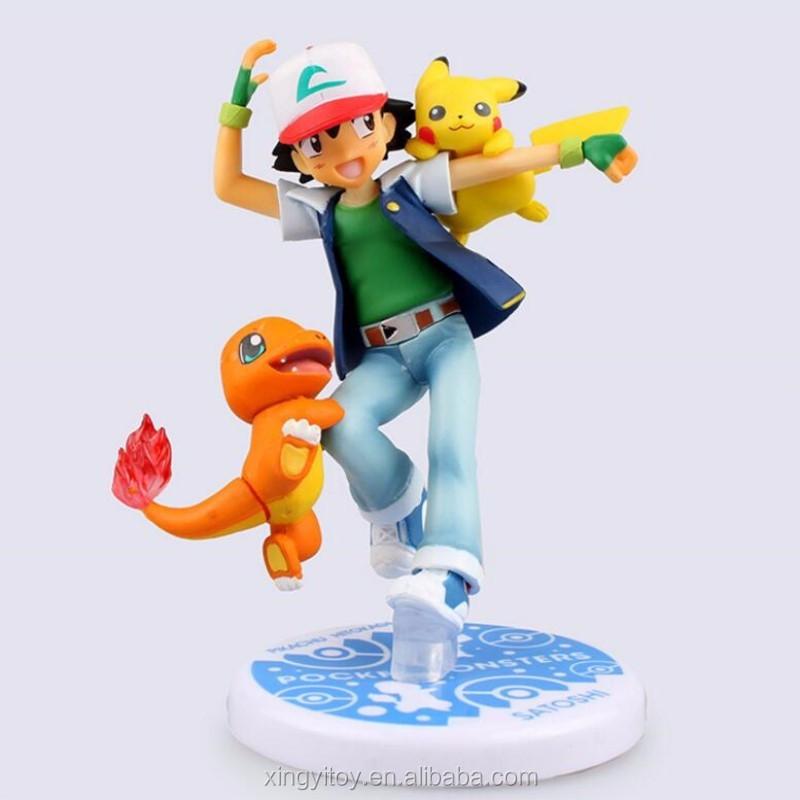 FIGURINE Pikachu Ash Pokémon PVC Action Figure Collection Modèle Jouet 10cm