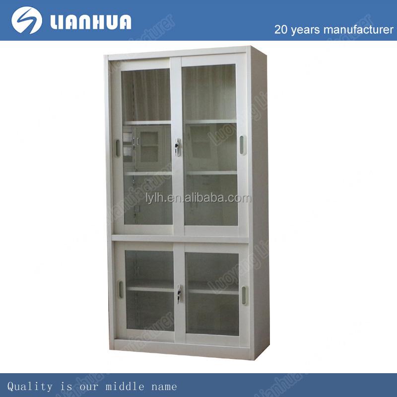 מעולה ארון ספרים עם דלתות זכוכית דגם/הזזה תיקיה דלת זכוכית/פלדה בסיס עם MR-02