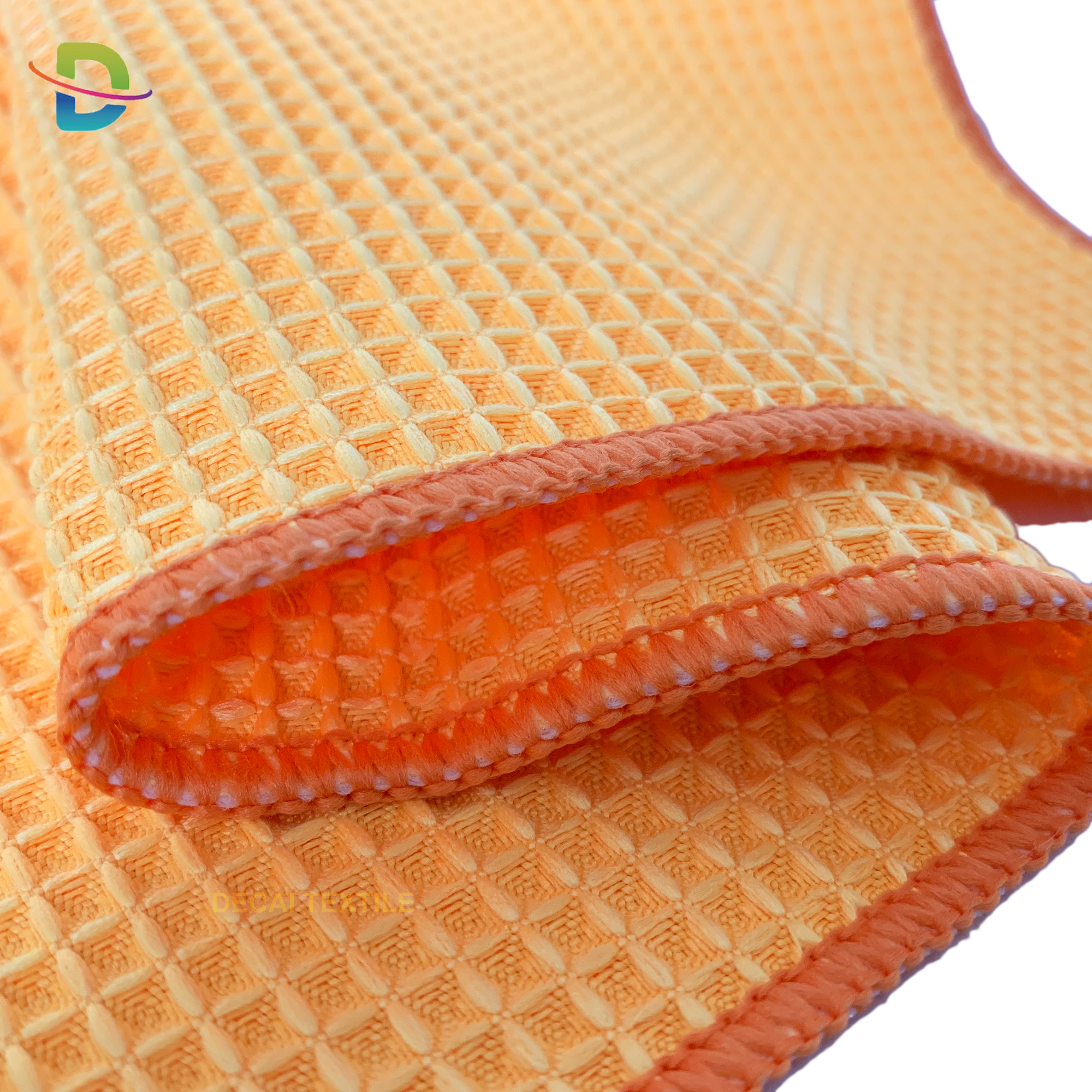 china factory wholesale large size microfiber waffle towel car cleaning cloth kitchen cleaning towel