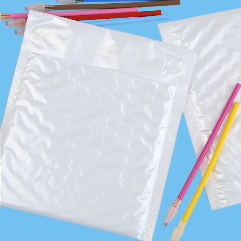 Pearl White Usable Space Poly Bubble Envelopes Mailer Padded Mailing Bag