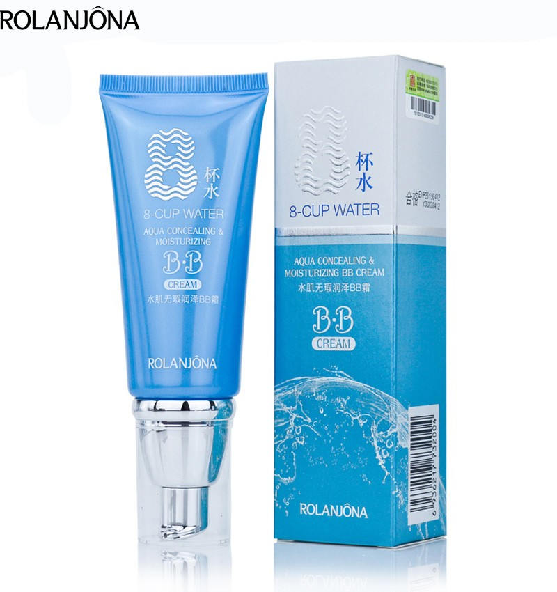 Rolanjona 8 cup water brightening moisturizing BB cream for OEM&ODM
