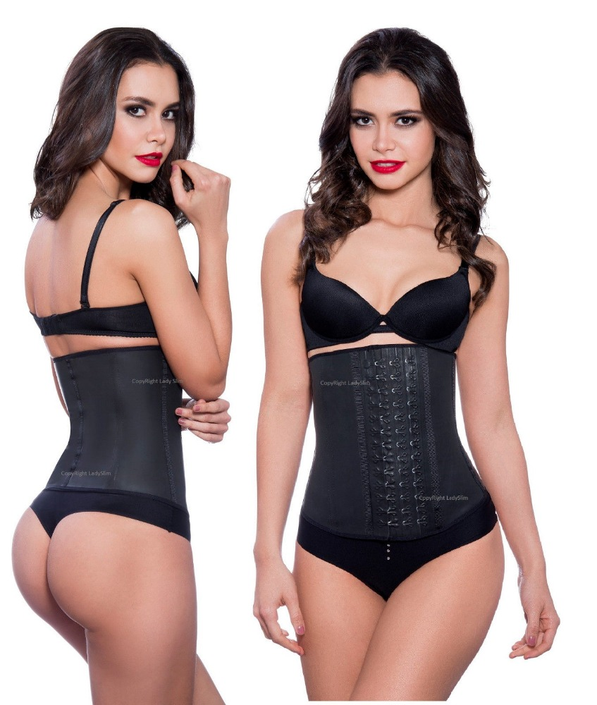 High Quality Waist Trainer 100% Latex Slimming Body Shaper Corset bustier