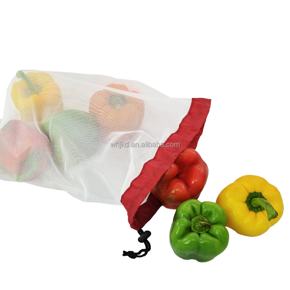 Wholesale cheap fresh vegetable packaging bag fruit mesh bag reusable bags