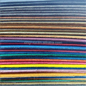 Imitated Micro Fiber PU Leather With Coating Backing For Shoes