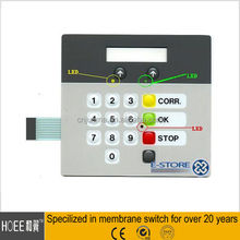 Colorful Silk-printing Membrane Switch Printing Numeric Keypad LCD