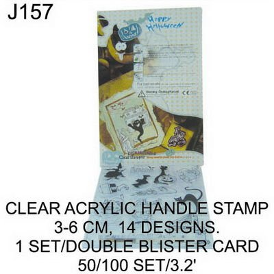 J157 CLEAR ACRYLIC HANDLE STAMP