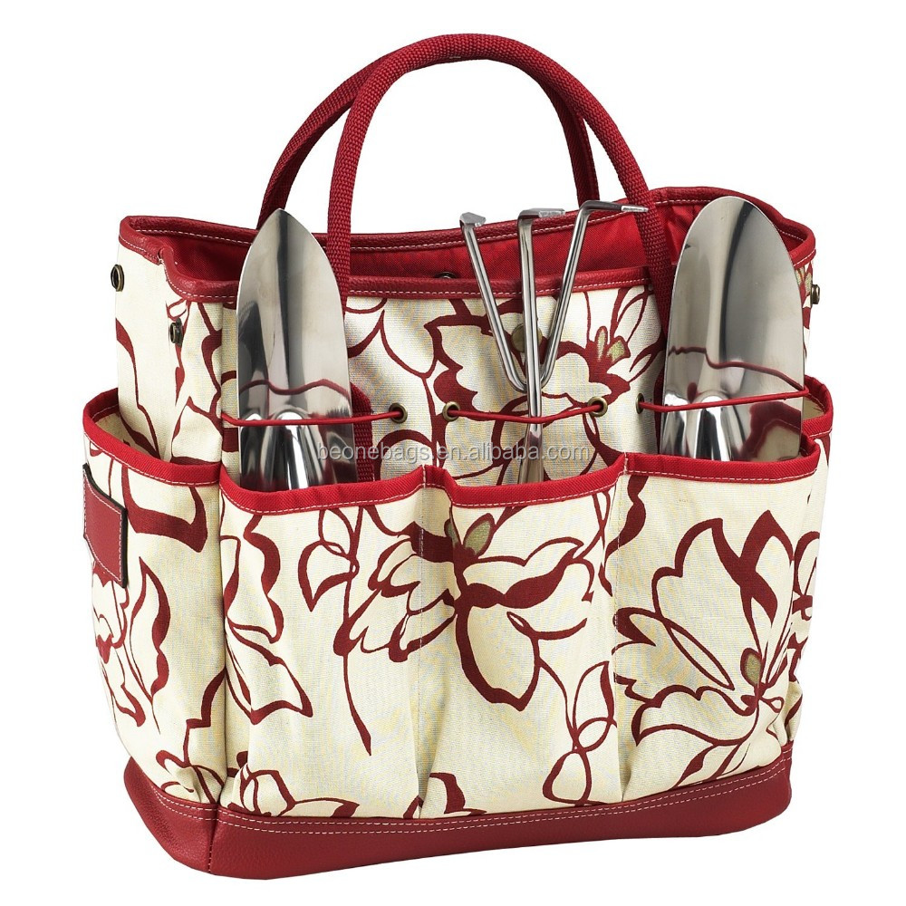 Durable Quality Construction Multi Pocket Tote Garden Tool Tote Bag