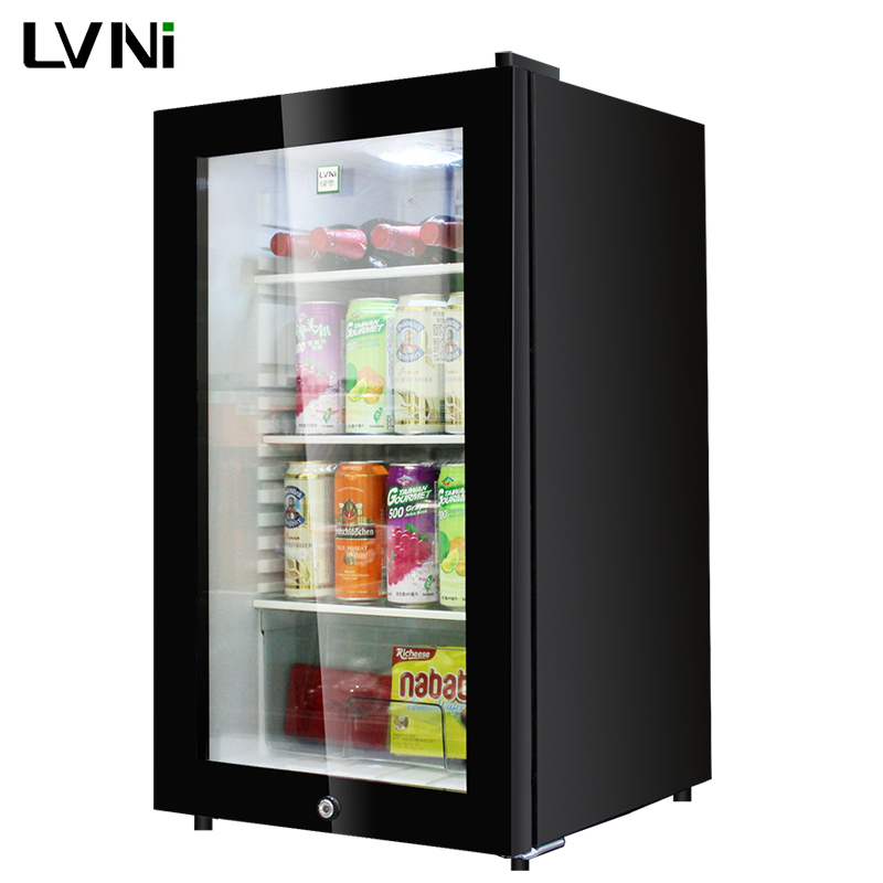 LVNI high home bar 95L ha condotto la porta di vetro chiaro mini bar frigorifero frigorifero con compressore