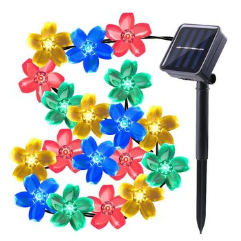 Peach Sakura Flower Solar Garland Lights Solar Lamp Power LED String Fairy  Lights Cheap Price 50