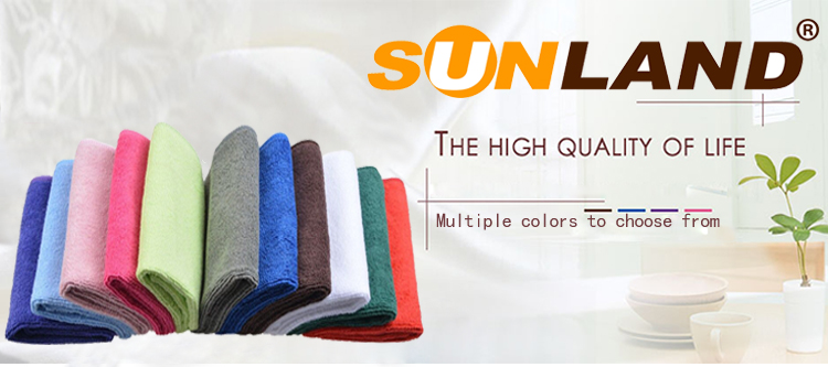 Sunland wholesale 80% polyester 20% polyamide Microfiber household cleaning towel