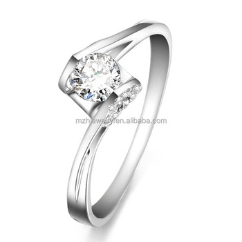 Latest Wedding Simple 18k Gold Finger Ring Designs Diamond Engagement Rings Jewelry