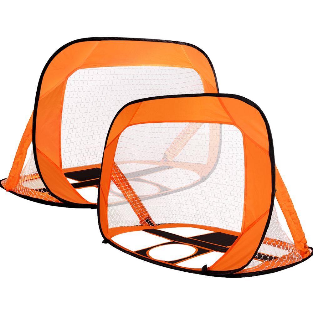 NEW Kevenz Orange Portable Soccer Goal Set Of 2