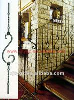 New fashion style steel stair hand railing of Wrought iron