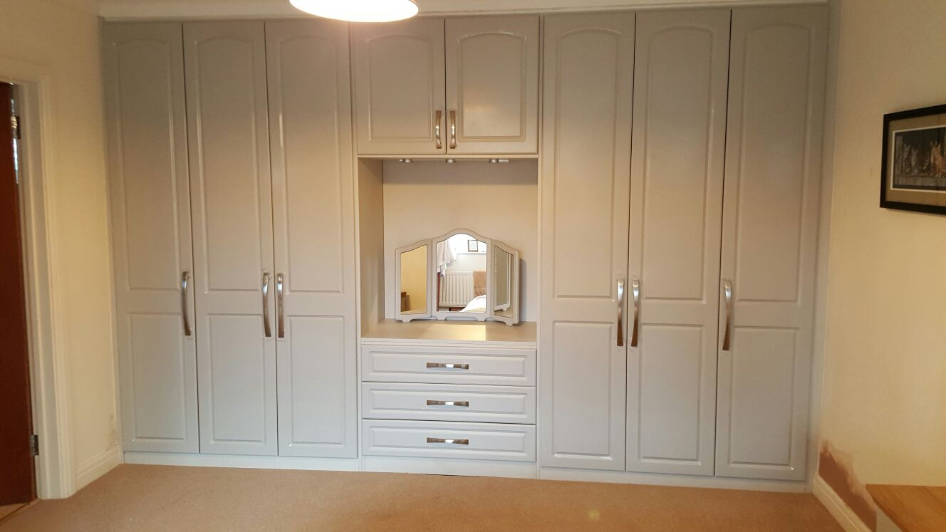 Modern Bedroom Wardrobe With Dressing Table Factory Sale ...