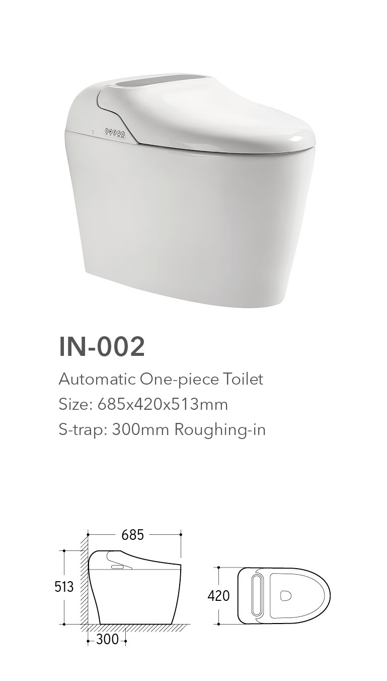 color wc intelligent smart electric bidet toilet with automatic operation
