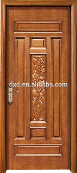Wooden carving main door design with rob handle buy for Single main door designs