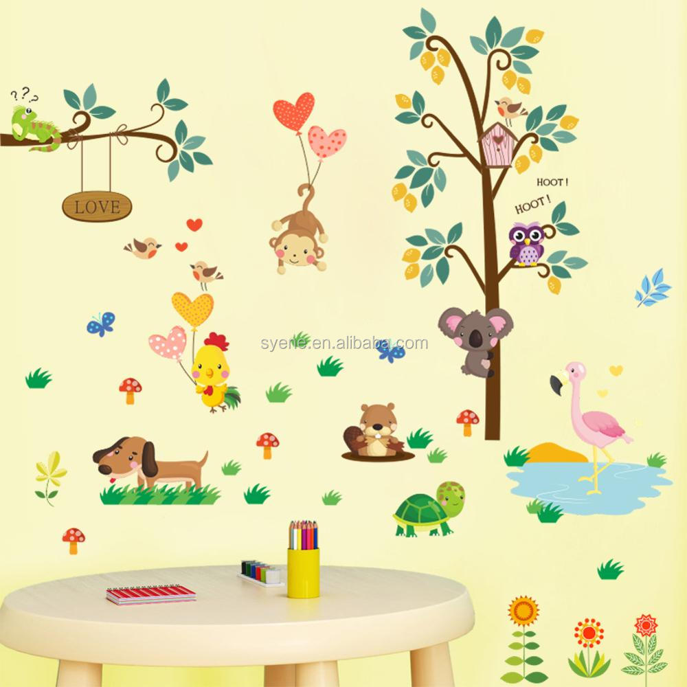Syene New 3d Art Removable Wall Decor For Kids Wall Stickers For ...