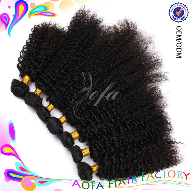 2012 cheap price hot sale retail and wholesale brazilian afro kinky curly remy hair weave