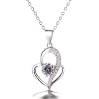 Newest Jewelry Engraving Name 925 Sterling Silver Heart Custom Necklace Pendant For Women