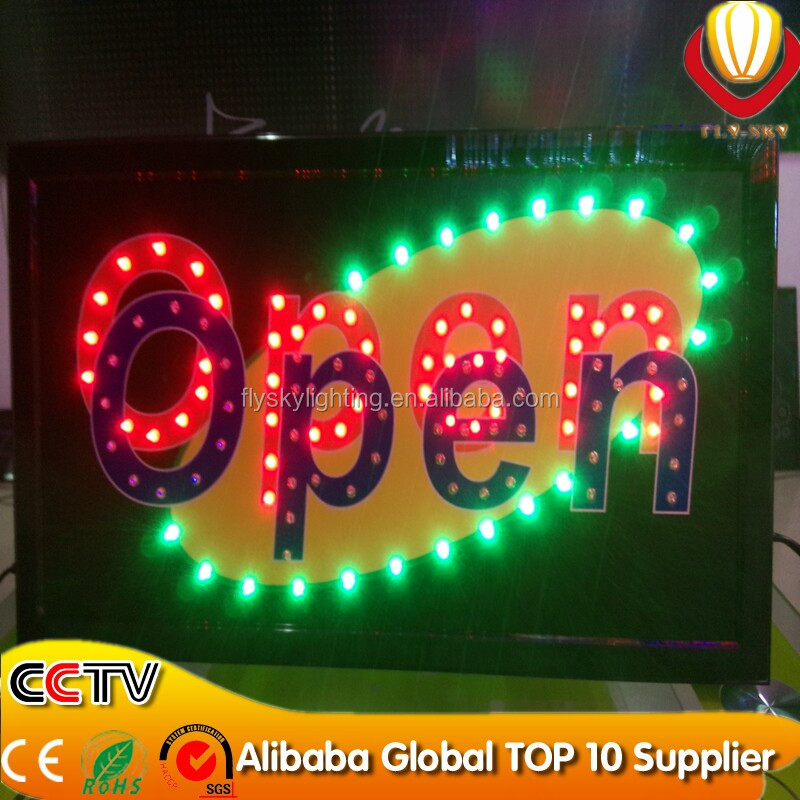 hot new products for 2016 good-looking high quality bar/ATM/OPEN led sign board mini open led sign board with CE&ROHS