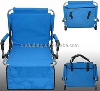 Outdoor folding stadium chair, foldable patio chair, lawn chair
