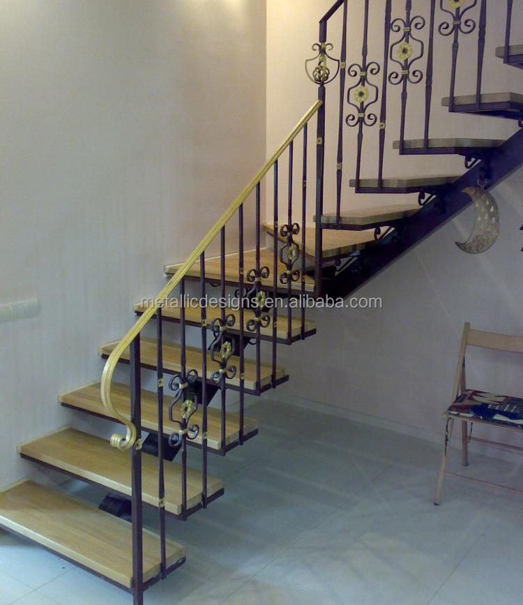 Moderno design di lusso interni in ferro battuto corrimano - Scale in ferro battuto per interni ...