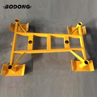 Yellow power training pull and push prowler gym sled