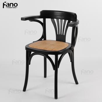 Amricain Style Caf Htel Ironica En Bois Manger Chaise Avec Accoudoir