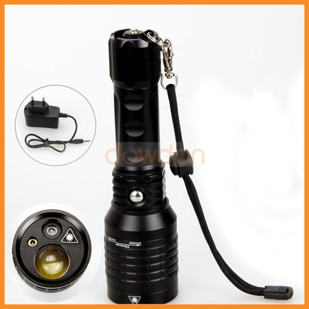 3 In 1 Red Red Green Laser Led Flash Light 4-Mode 1000LM Zoomable Torch Rechargeable Tactical Laser Flashlight