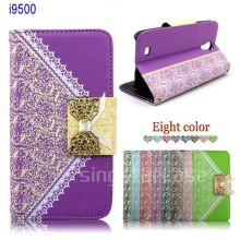 New style leather flip case for samsung galaxy s4 i9500, for samsung galaxy s4 case, for samsung s4 cover