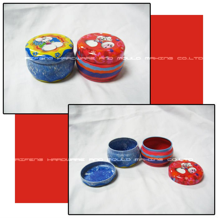 Round bulging belly shape powder tin can