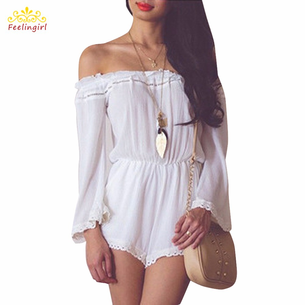 Buy Sexy Jumpsuit Women White Rompers Womens Jumpsuit Overalls