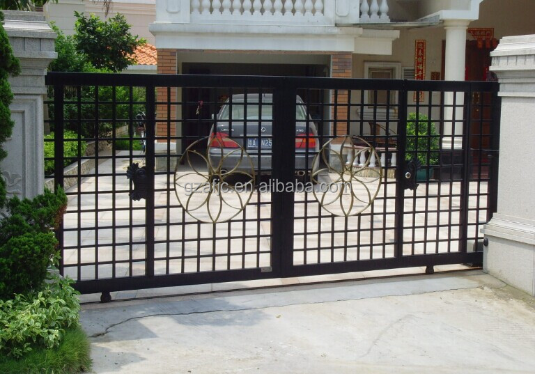 Galvanized Iron Metal Gates Iron Swing Main Gate Design