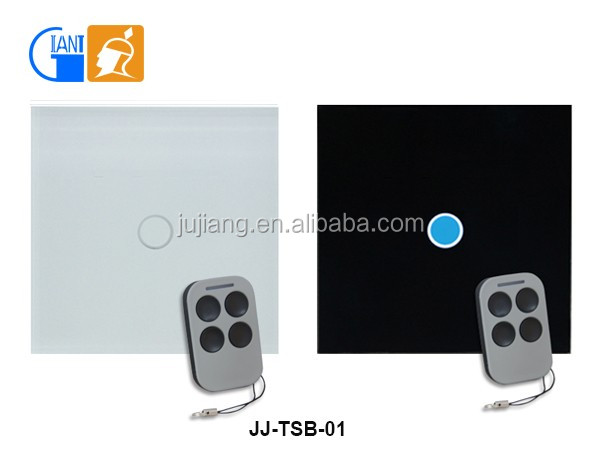 Smart wifi touch switch with glass panel touch button,control by smart phone and remote JJ-TSB-01