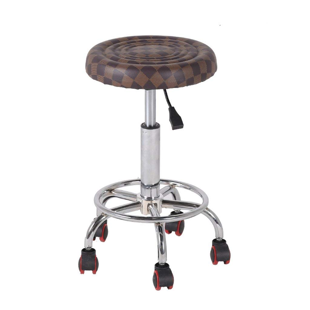 Wei Hong Home Office stools High stools Beauty stools Lift chairs Swivel chairs (Color : Brown, Size : 3448cm)