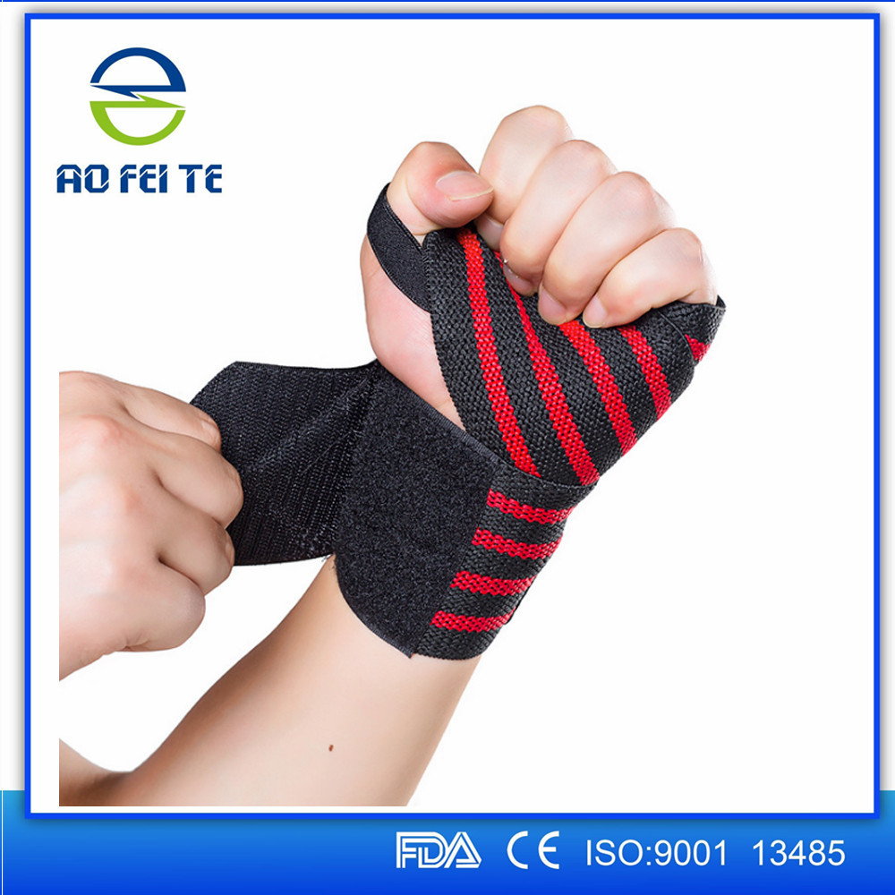 Promotional Nylon Crossfit Wrist Wraps Crossfit Adjustable Strap for Weight Lifting