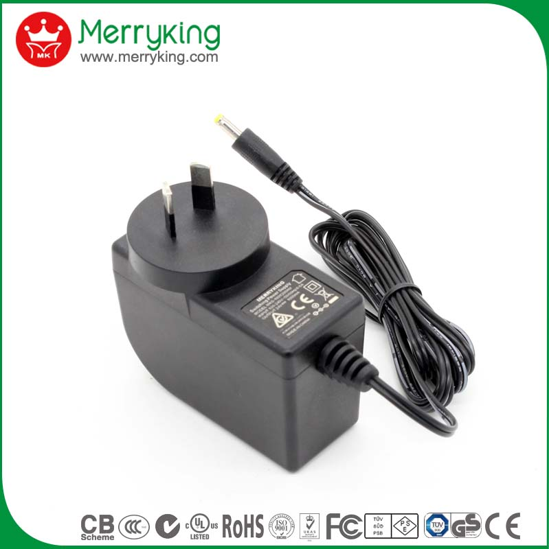 Green mode 110v ac to 24v dc power supply adapter with test repot