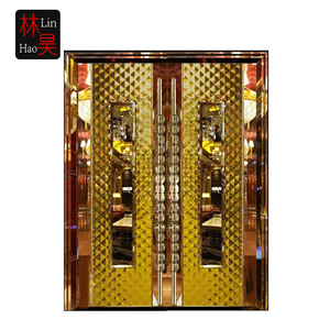 Stainless steel frame glass ktv hotel door/ stainless steel door price design