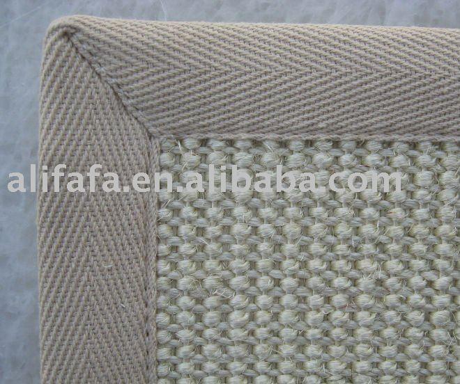 Hilo sisal natural de c amo alfombra beige con algodon - Alfombras de canamo ...
