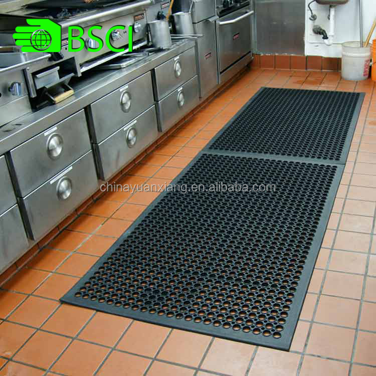 Anti Fatigue Non Slip Kitchen Rubber Mat with BSCI certification