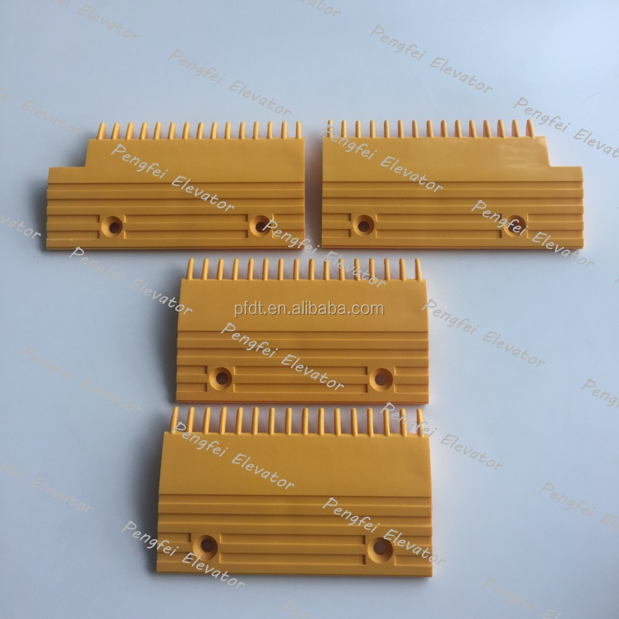 Hyundai escalator comb plate with yellow color fine quality