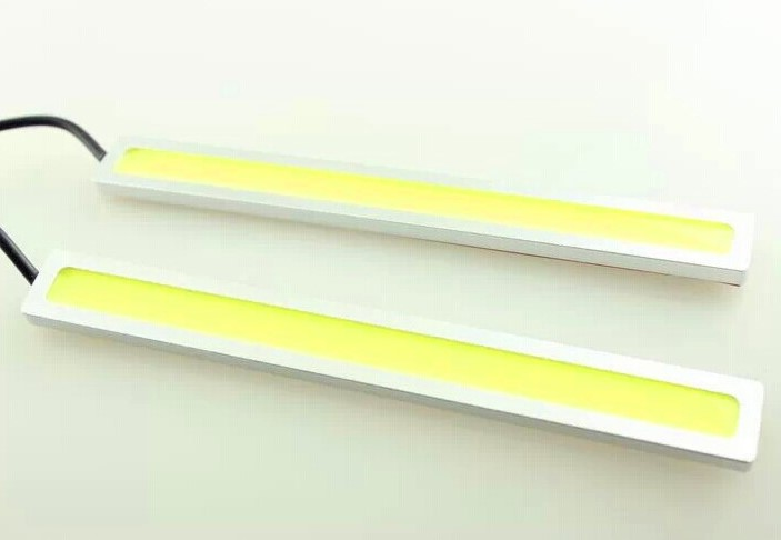 17 cm led cob day running light black and silver case with different color