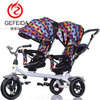 2018 newest china outdoor children trike cars toys babies pram 3 wheels double baby tricycles stroller for twins