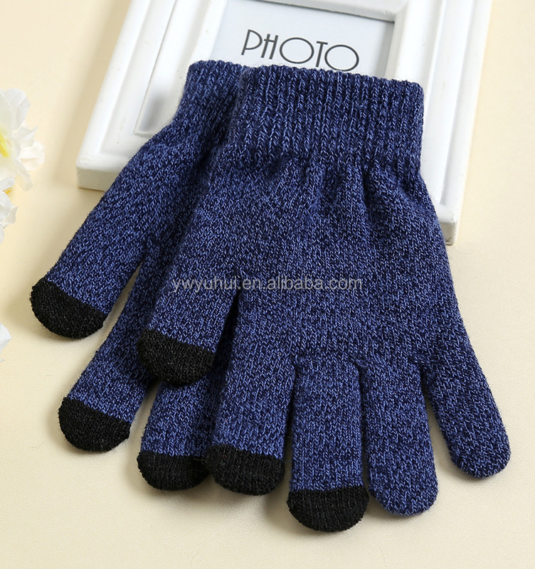 China manufacturer Top Quality Bottom Price Sublimation Printing touch screen knit glove for mobile phone