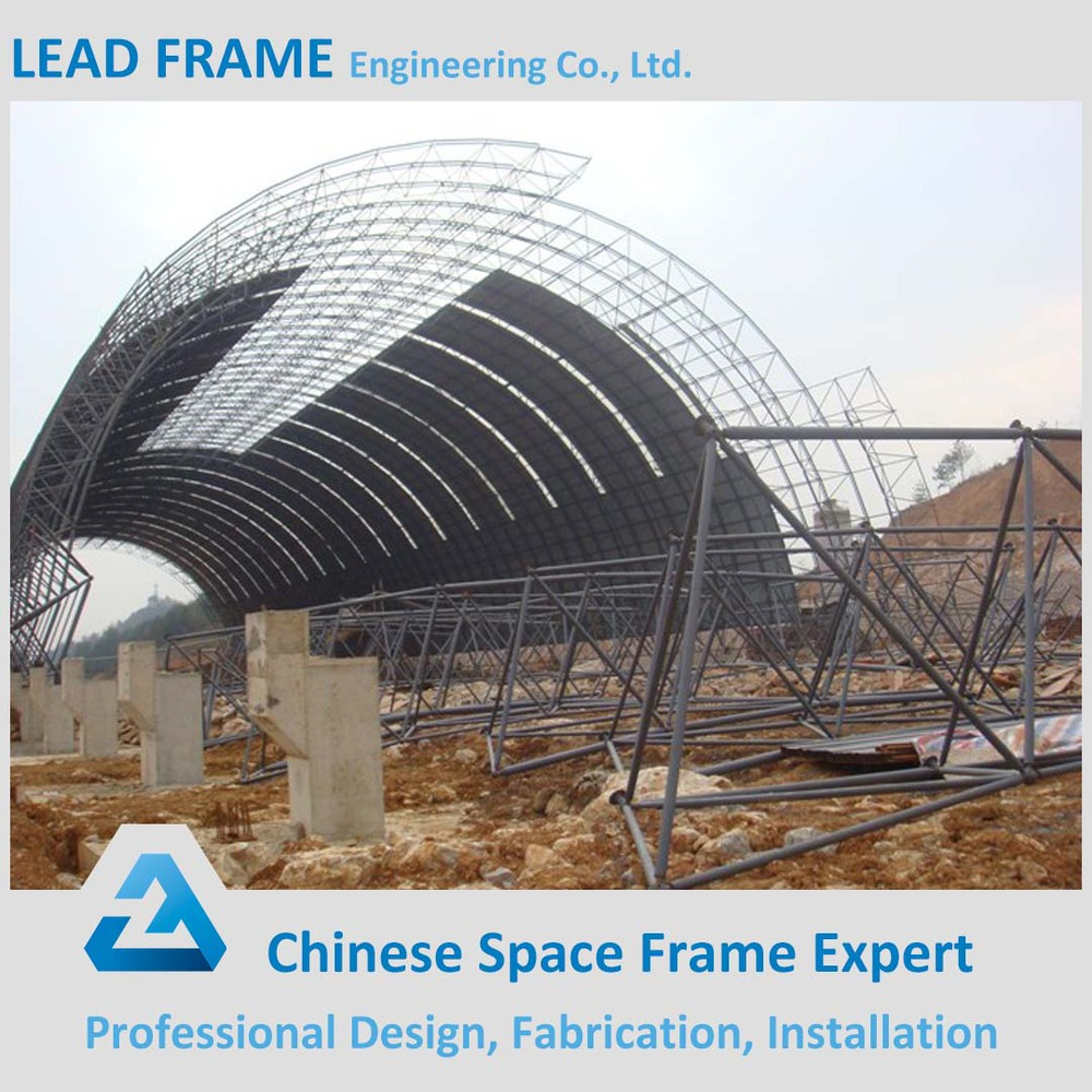Long Span Light Type Prefab Steel Grid Space Frame Cement Plant