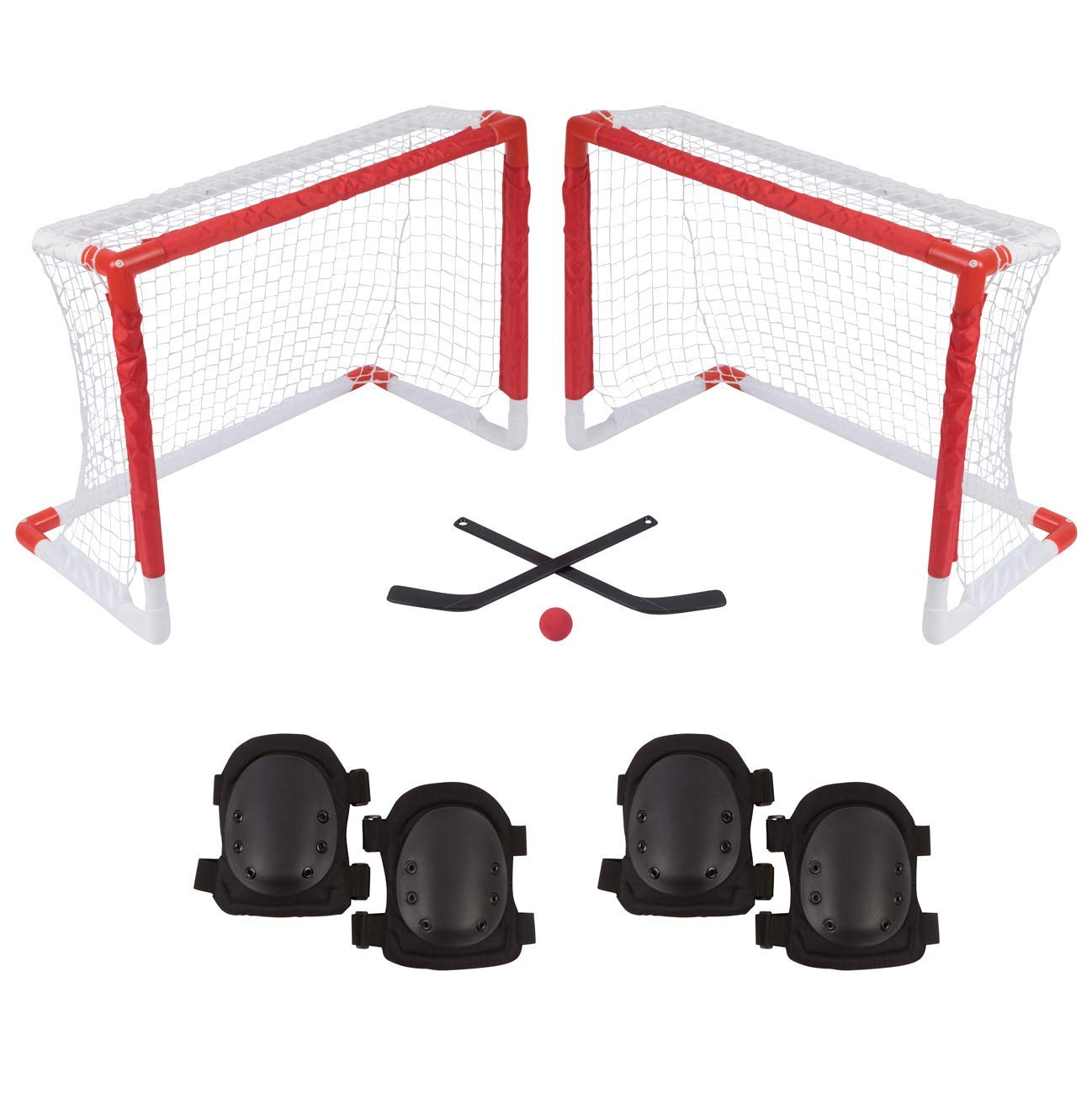 8b4d1d4871a Get Quotations · Trademark Innovations Mini Knee Hockey Goal Set with 2  Goals
