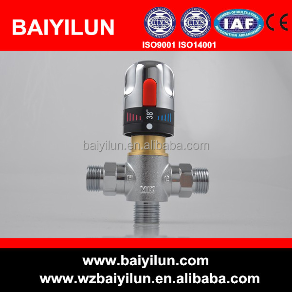 automatic hot cold water tempering valve
